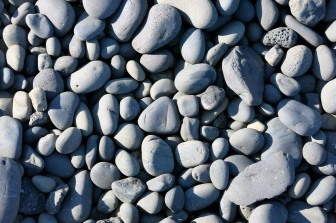 Grey basalt pebbles on the sea-shore of western Iceland (Londrangar, Snaefellsnes)