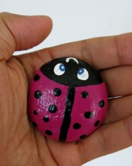 Lovely ladybird crafted from pebble, NW Iceland.